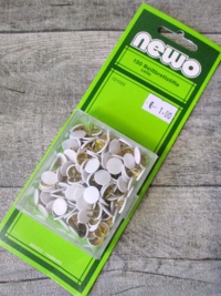 Reißnägel Reißbrettstifte Reißzwecken NEWO Metall Kunststoff weiß 130 Stk - MONDSPINNE
