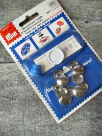 überziehbare Knöpfe Prym Metall silber 15 mm 6 Stück - MONDSPINNE