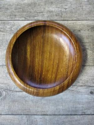 Holzschale Monkey Pod handgeschnitzt 20 cm rund
