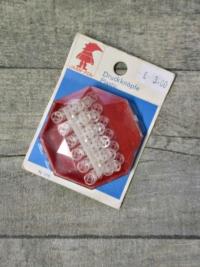 Druckknöpfe 7 mm 24 Stück transparent Kunststoff Näh-Fix
