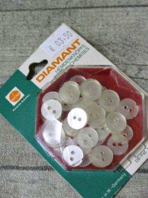 Hemdenknöpfe 11 mm transparent Kunststoff Diamant