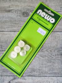 Hemdenknöpfe 18 Stück 15 mm transparent Kunststoff NEWO Wenco