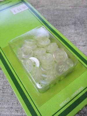 Hemdenknöpfe 40 Stück transparent 11 mm Kunststoff NEWO