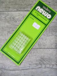 Plastik-Druckknöpfe 24 Stück 7 mm Kunststoff transparent NEWO