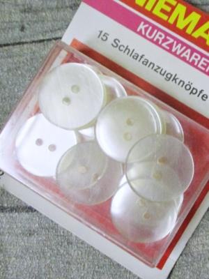 Schlafanzugknöpfe 15 Stück 19 mm transparent Kunststoff Niemann
