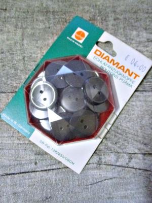 Schlafanzugknöpfe 18 Stück 19 mm anthrazit Kunststoff Diamant