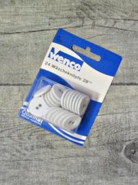 Wäscheknöpfe 24 Stück 17,5 mm weiß bezogen Wenco