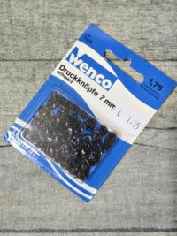 Druckknöpfe 7 mm schwarz Metall 32 Stück Wenco