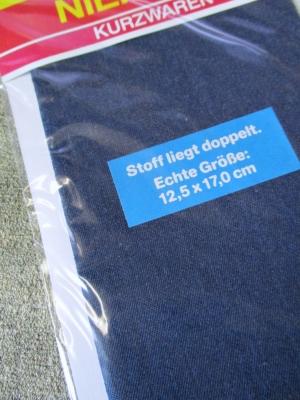 Flicken Bügelflleck dunkelblau jeansblau Niemann rechteckig 125x170 mm - MONDSPINNE