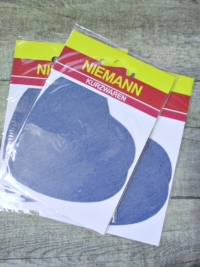 Flicken Bügelflleck hellblau jeansblau Niemann herzförmig - MONDSPINNE