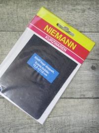 Flicken Bügelflleck schwarz Jeansoptik Niemann rechteckig 125x170 mm - MONDSPINNE