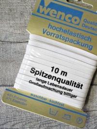 Gummiband 5mm 10 m Vorratspackung weiß kochfest Wenco - MONDSPINNE
