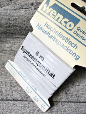 Gummiband 5mm 6 m Haushaltspackung weiß kochfest Wenco - MONDSPINNE