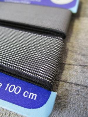 Gummiband schwarz-weiß gestreift 23mm 100cm kochfest - MONDSPINNE