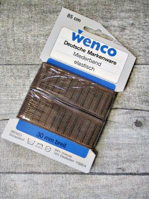 Miederband Gummiband breit braun 85cm 30mm Wenco - MONDSPINNE