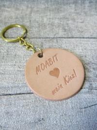 Schlüsselanhänger Moabit mein Kiez Rindsleder - MONDSPINNE