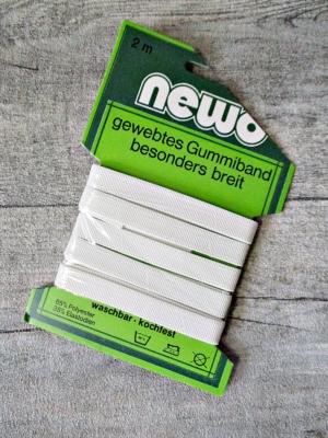 gewebtes Gummiband breit waschbar kochfest NEWO 1cm 2 m - MONDSPINNE