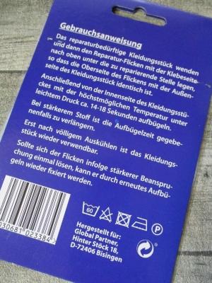 Flicken hellblau jeansblau - MONDSPINNE