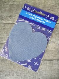 Flicken hellblau jeansblau herzförmig - MONDSPINNE