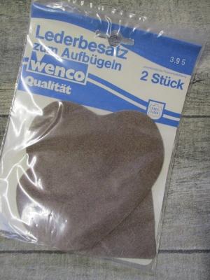 Flicken Leder Lederbesatz zum Aufbügeln hellbraun Wenco - MONDSPINNE