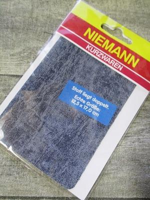 Flicken dunkelblau-meliert Jeansoptik - MONDSPINNE