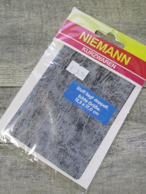 Flicken schwarz-meliert Jeansoptik - MONDSPINNE