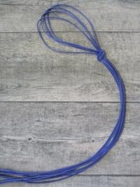 Lederband Lederriemen Ziegenleder blau rund 1 m 1,5mm - MONDSPINNE