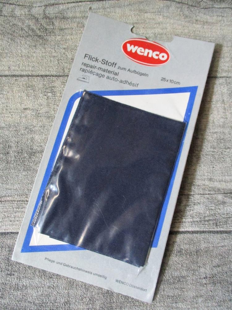 Reparaturtuch Flicken Wenco dunkelblau 25x10cm aufbügeln - MONDSPINNE