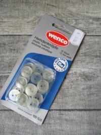 Hemdknöpfe Wenco-Prym 18Stk 15mm transparent-weiß - Mondspinne