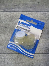 Kittelnköpfe Wenco 10Stk. 36''' gelblich-transparent - Mondspinne