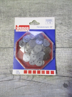 Hemdenknöpfe Wenco-Service dunkelgrau 11mm - Mondspinne